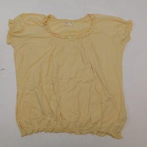 Avenue 22/24 Yellow Casual Top  Cotton